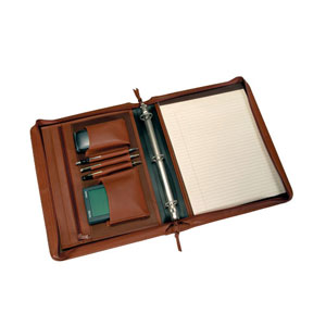 binder-folio with top-grain Napa leather cover