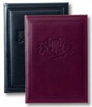 black and Burgundy leather junior executive folders