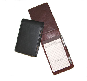 leather foldover note jotters