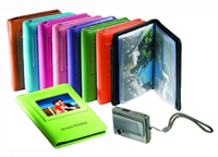 multicolored leather photo wallets