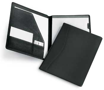 leather portfolio, leather padfolio, leather and vinyl, eurostyle journal, leather journal