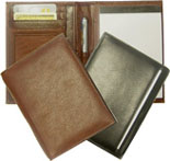 leather journals, wallet journal, leather and vinyl