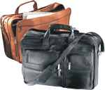 leather multi-function briefcase, leather briefcase, leather breifcase, leather