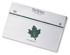 white vinyl legal-size flap portfolio