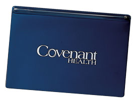blue vinyl zippered legal-size portfolio
