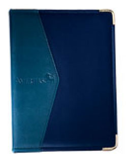 blue microfibre ring binder