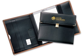 padded cover seminar portfolios with locks