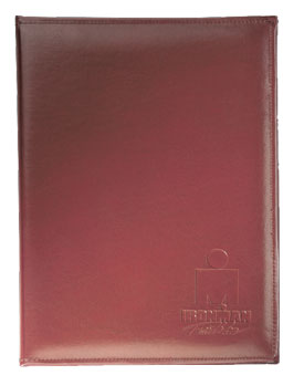 tan padded viny letter folder