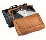 leather deluxe garment carrier, leather garment carrier, garment carrier, leather carrier