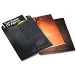leather manila envelope, leather envelope, leather journals