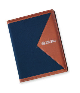 canvas and vinyl letter-size padfolio